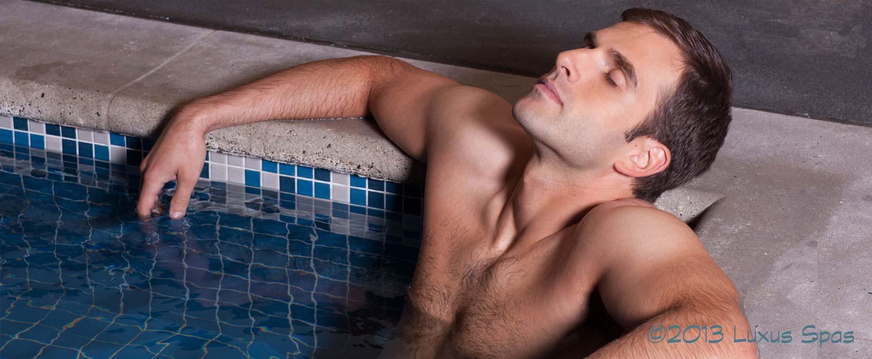 Enjoying a relaxing spa treatment.