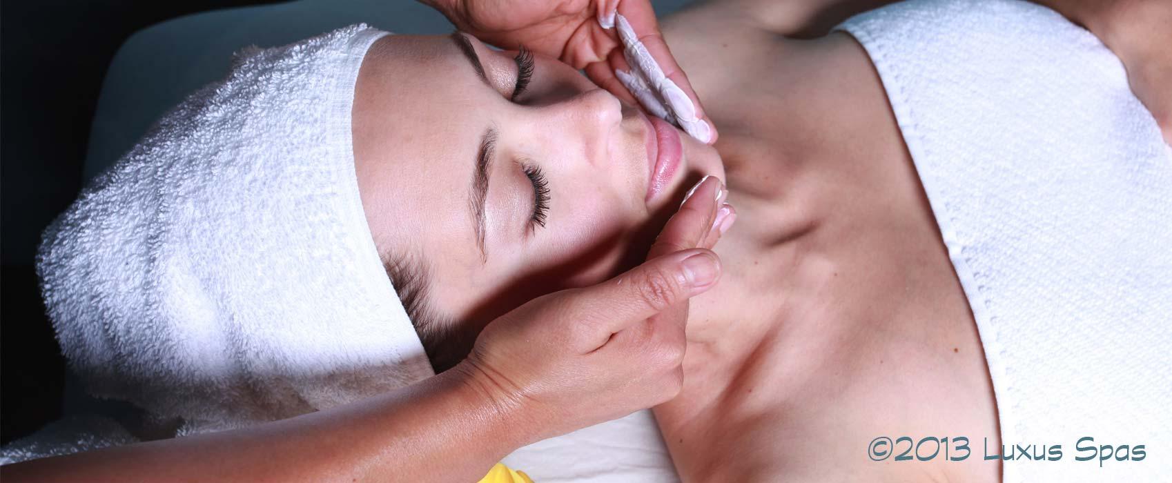Luxury facial treatment.
